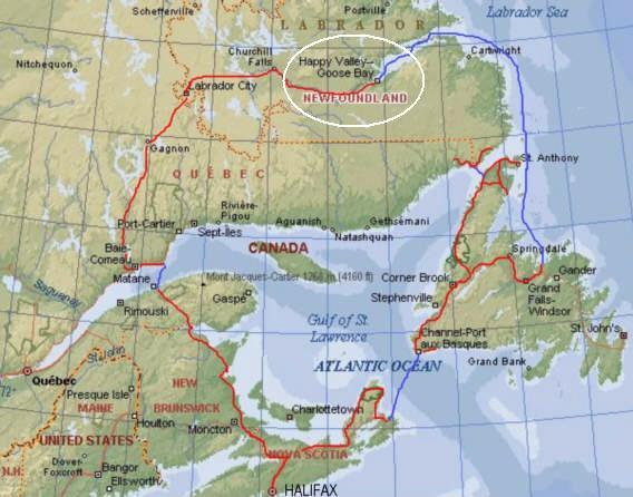 Goose Bay Air Force Base Labrodor SAC Base - Map us air force bases